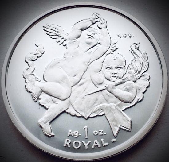 "Picture of Срібна монета ""Херувим Ангел"" 31.1 грам 2001 р."