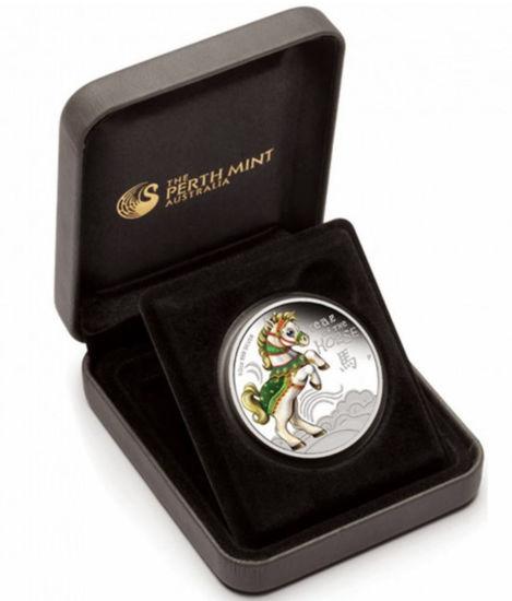 """Picture of Серебряная монета """"Год Лошади"""" 15,5 грамм 2014 г."""