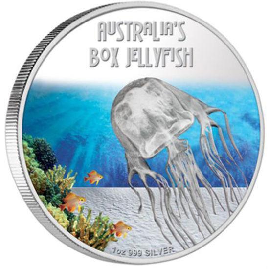 "Picture of Серебряная монета ""Австралийская коробчатая медуза"" 31,1 грамм"