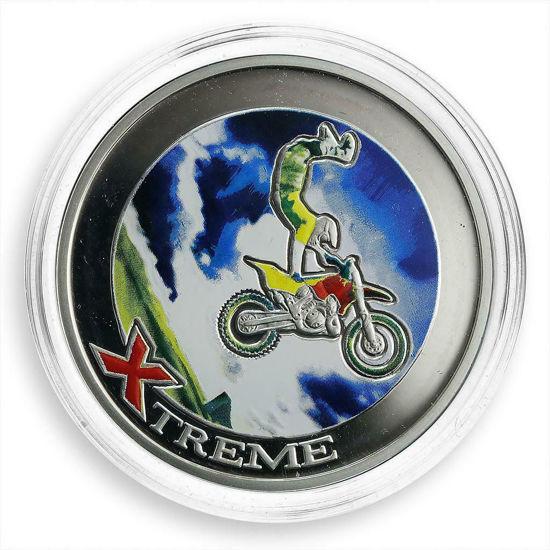 """Picture of Срібна монета """"Екстрім Фрістайл Мотокрос"""" 28,28г Андорра 2008"""