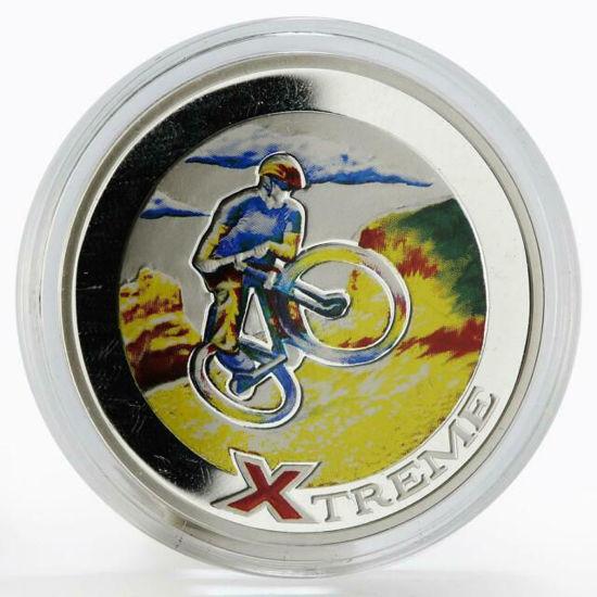 """Picture of Срібна монета """"Екстрім Гірський велосипед"""" 28,28г Андорра 2007"""