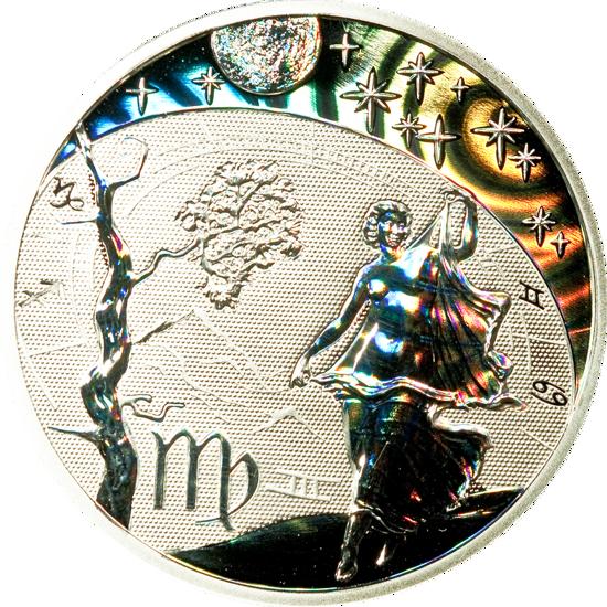 "Picture of Серебряная монета с голограммой ""Дева"" 15,55 грамм Камерун"