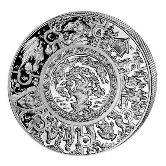 """Picture of  Срібна монета """"Російські казки"""" 28,28г Ліберія 2009"""