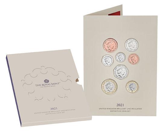 Picture of Англия, Великобритания Годовой набор 2021 из 13 монет. BU
