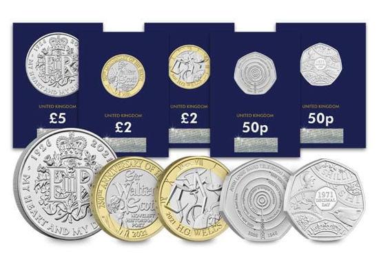 Picture of Англия, Великобритания Набор памятных монет 2021 из 5 монет. BU