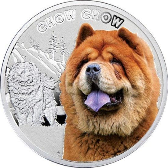 """Picture of Срібна монета """"Йоркширський тер'єр"""" серія """"Кращі друзі людини - собаки"""" 17,5 грам"""
