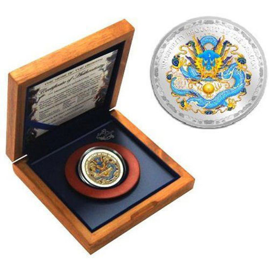 """Picture of Серебряная монета """"Год  Дракона """"  31,1 грамм 2012 г."""