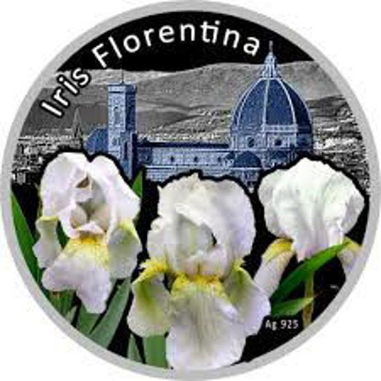 "Picture of Серебряная монета  Cерия цветы мира ""Флорентийский Ирис"" 28,28 грамм"