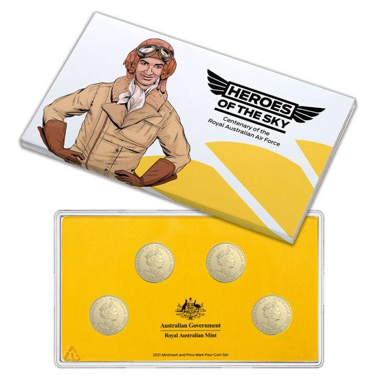 Picture of Австралия 1 доллар 2021, Герои неба к 100-летию Королевских ВВС Австралии (4 монеты)