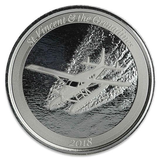 """Picture of Срібна монета """"гідролітак Сент-Вінсент і Гренадини"""" 31,1 грам 2018 р"""