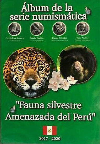 "Picture of Перу набір з 10 монет 1 сіль 2017-2019 ""Зникаюча дика природа Перу"""