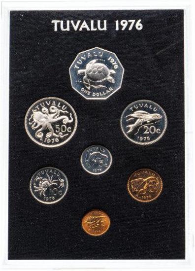 Picture of Тувалу набор 7 монет 1976 (в пластиковом футляре)
