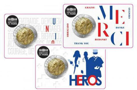Picture of Франція 2 євро 2020 року, Медичні дослідження, Коінкард