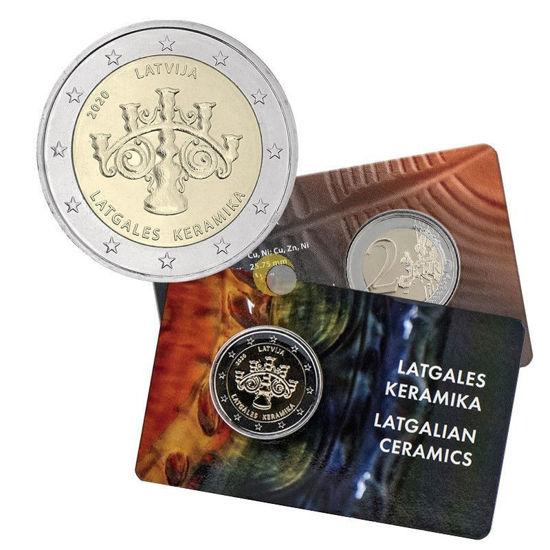 Picture of Латвія 2 євро 2020 року, Латгальськая кераміка, Коінкард