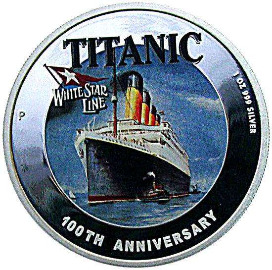 "Picture of Срібна монета ""Титанік"" 2012 31,1 грам Тувалу"