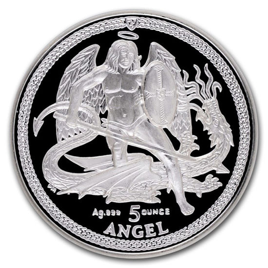 "Picture of Срібна монета ""Ангел"" 155,5 грам 2013 р. Острів Мен"