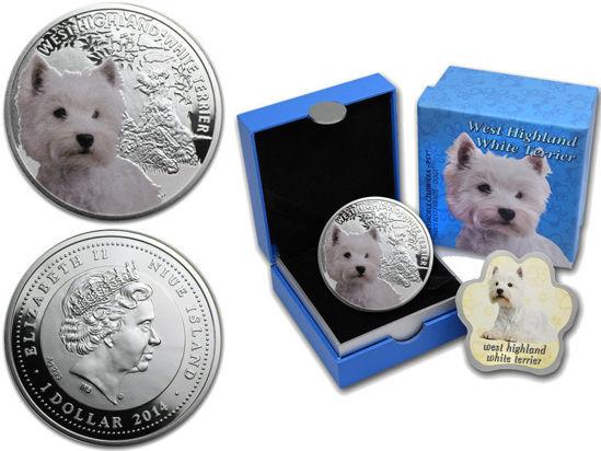"""Picture of Срібна монета """"Вест-хайленд-уайт-тер'єр"""" серія """"Кращі друзі людини - собаки"""" 17,5 грам"""