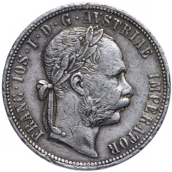 Picture of Серебряный  1 флорин (florin) 1880 Австрия