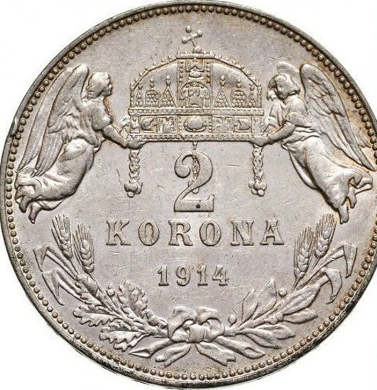 Picture of Серебряный монета  Венгрия 2 кроны 1913