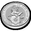 Picture of Серия Звери Королевы Серебро Белый Лев Мортимера 62,2 грамм, VIII/X The White Lion of Mortimer, Великобритания 2020