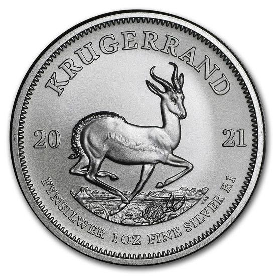 Picture of Серебряная монета Крюгерранд 31.1 грамм, 2021 г.