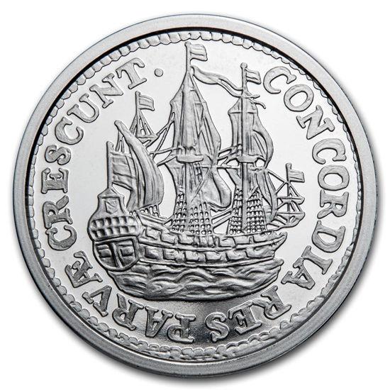 Picture of Серебряная монета Корабельный Шиллинг 31,1 грамм 2021 г. Нидерланды