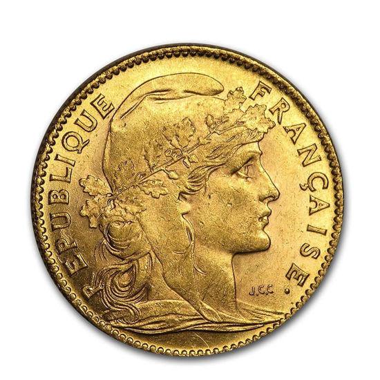 Picture of Золото 10 франків (ПІВЕНЬ) 1898-1914 Франція