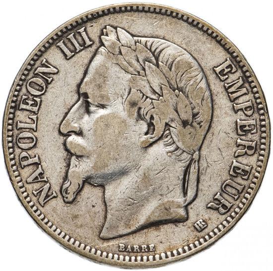 Picture of 5 франків 1861-1870 Наполеон III, Франція