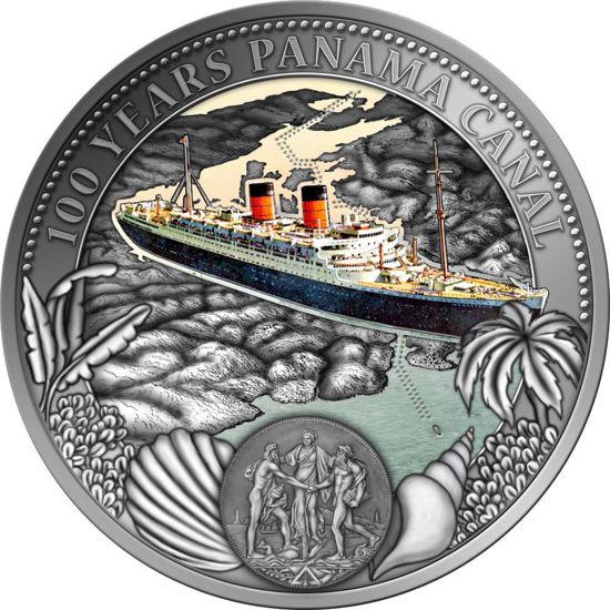 "Picture of Срібна монета ""100 років Панамському каналу"" Ніуе 50 грам 2014"