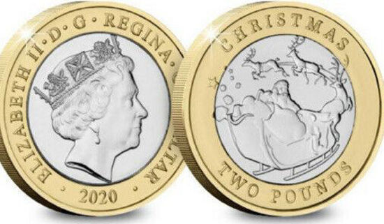 Picture of Гібралтар 2 фунта 2020 року, Різдво