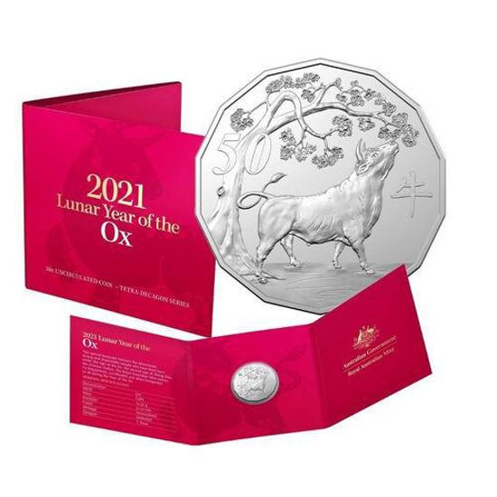 Picture of Австралия 50 центов 2021, Год Быка (в блистере)