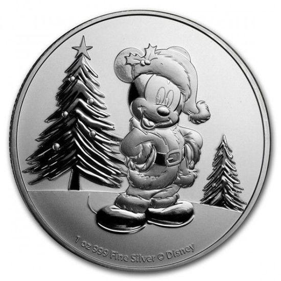 """Picture of Срібна монета """"Міккі Маус - Різдво"""" 31.1 грам 2019 р."""