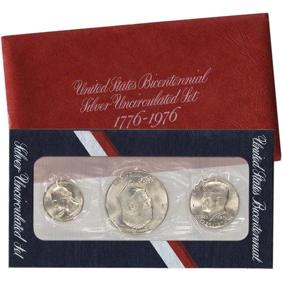 """Picture of Набір срібних монет """"200-річчя США"""" США 1976р"""