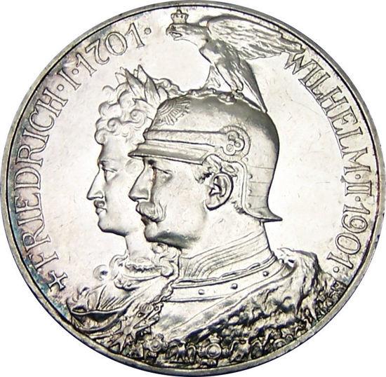 Picture of Срібна монета 2 Марки - Вільгельм II 11,11 грам 1901 р.