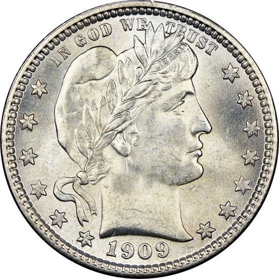 Picture of Срібна монета США Barber 1909 р.