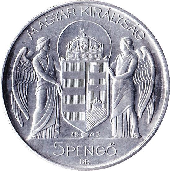 Picture of Срібна монета 5 Пенге - Адмірал Хорті Угорщина 1930 р.