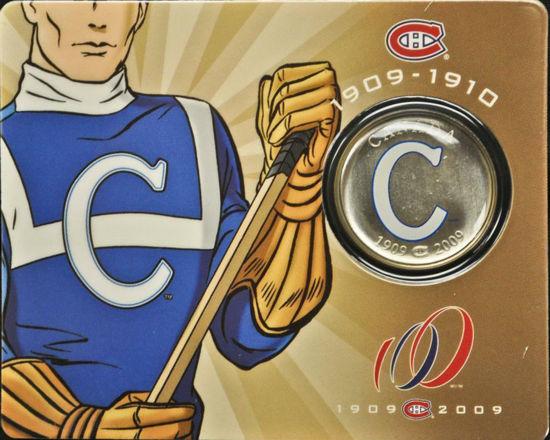 Picture of Канада 50 центов 2009, Клуб НХЛ Монреаль Канадиенс 1909-1910. В блистере