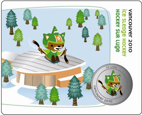 Picture of Канада 50 центов 2010, Талисман Зимних олимпийских игр Ванкувер 2010. В блистере