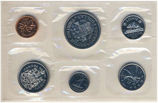 Picture of Канада набір з 6 монет 1971 (в запайке)