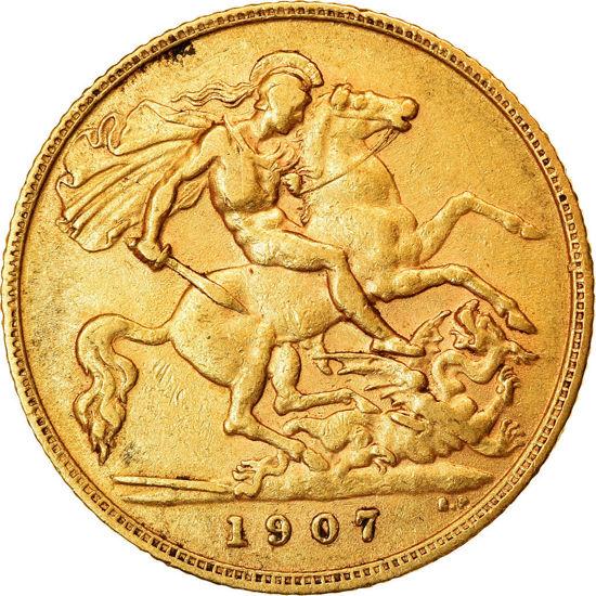 "Picture of Золотая монета 1/2 Соверена  ""Георг V"" 1911-1932"