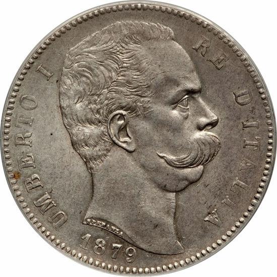 Picture of 5 лір 1879 р Умберто I, Італія