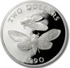 Picture of Бермудські острови 2 долари 1990, Бермудська цикада, Срібло 28,28 гр.