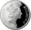 Picture of Бермудские острова 2 доллара 1991, Колючий омар, Серебро 28,28 гр.