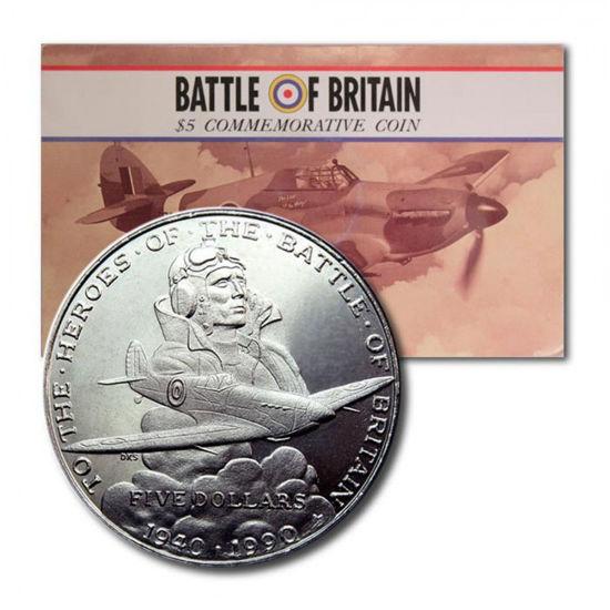Picture of Маршаллові острови, 5 доларів 1990, Героям битви за Британію (в буклеті)
