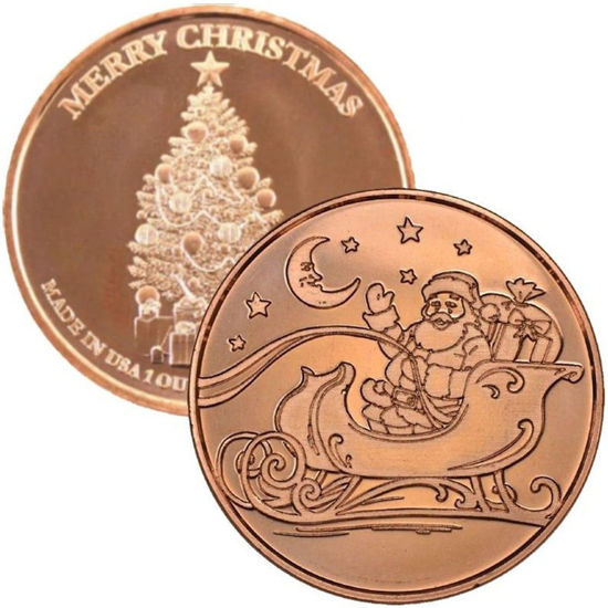Picture of Медальен (токен, монета) 1 унция чистой меди 0.999