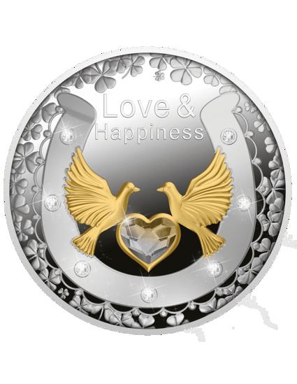 """Picture of Срібна монета """"Кохання і щастя"""" 2021, Ніуе 17,5 грам"""