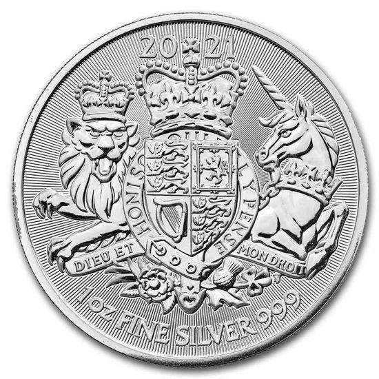 """Picture of Срібна монета """"The Royal Arms - Королівський Герб"""" 31,1 грам 2021 р"""