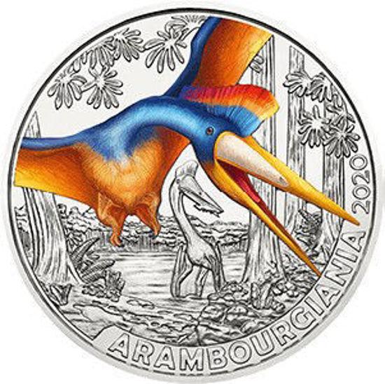 "Picture of Австрия 3 евро 2020. Арамбургиана . Серия ""Супер Динозавры"". UNC"