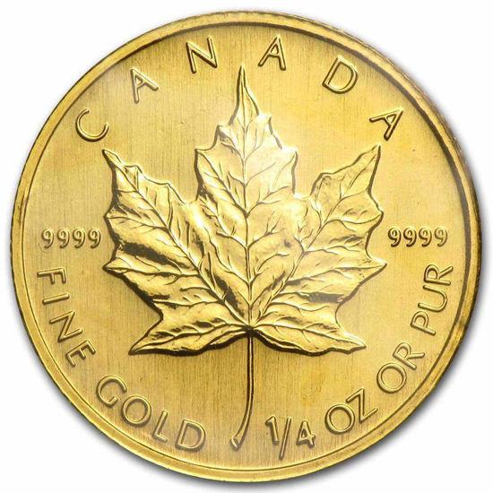 """Picture of Золотая монета """"Канадский кленовый лист"""" 7,78 грамм 1998 г."""