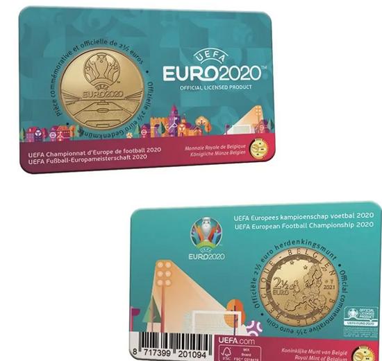 Picture of Бельгия 2,5 евро 2021, Евро-2020